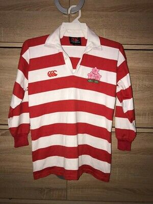 Japan Rugby 90's Canterbury of New Zealand Vintage Home Jersey Shirt 10 yrs