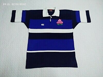 Japan Rugby Union Canterbury of New Zealand Polo Casual Rugby Shirt size M