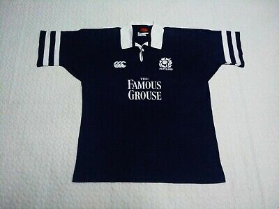 Scotland Rugby Union Canterbury of New Zealand Vintage Jersey Size XL