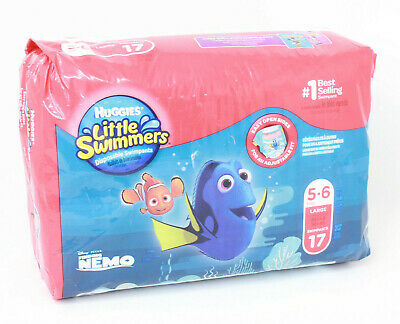 Lot of 3 Huggies Little Swimmers Disposable Swim Diapers Large 5-6 (17 count ea)