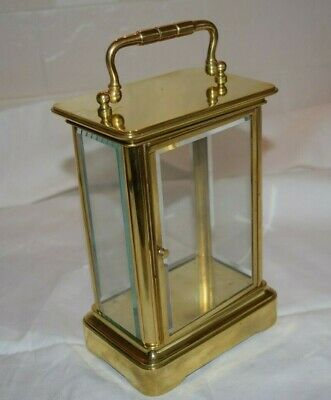 antique unusual brass carriage clock case slim and tall