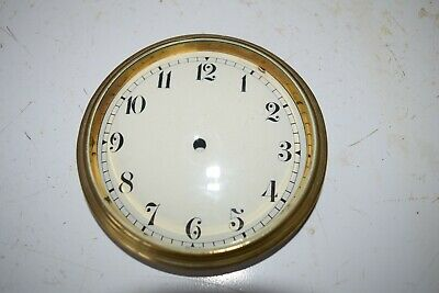 antique enamel  clock dial and glass