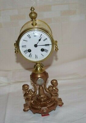 antique french bell striking clock unusual clock