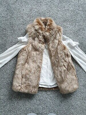 Girls Fur Gillet With Next Top Bundle Aged 7 Years
