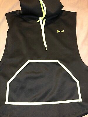 Usa Pro Little Mix Gym Top Size 8 Black And Yellow Hooded