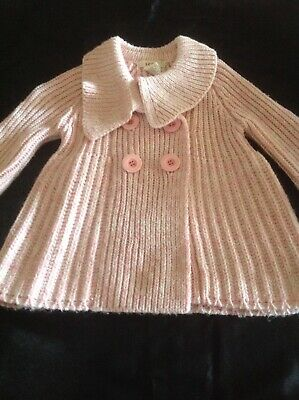 Girls knitted cardigan jacket coat size 2-3 years old Seed