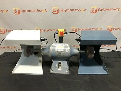Baldor Buffer 332B 3/4 HP Phase 1 Double Grinder Industrial Shield 3524C Frame