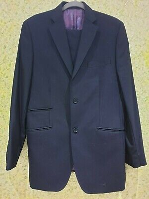 TED BAKER ENDURANCE 2 Piece SUIT 100 % Wool SIZE: JACKET 40R /Trousers 34R