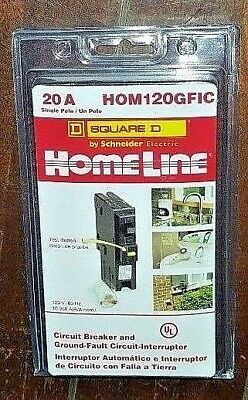 New Homeline 20A Circuit Breaker & Ground Fault Circuit Interrupter - HOM120GFIC