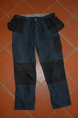 Snickers Workwear Canvas Craftsman's Trousers Work Trousers Pants Blue 158