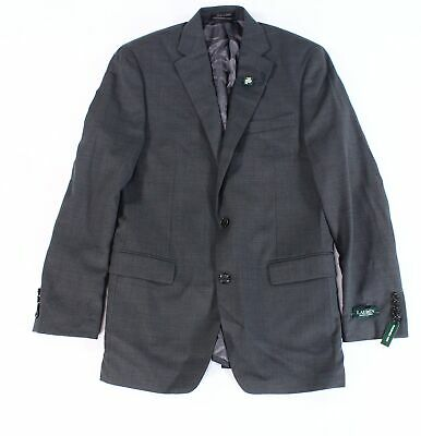 Lauren by Ralph Lauren Mens Suit Jacket Gray Size 38L Two Button Wool $600- 011