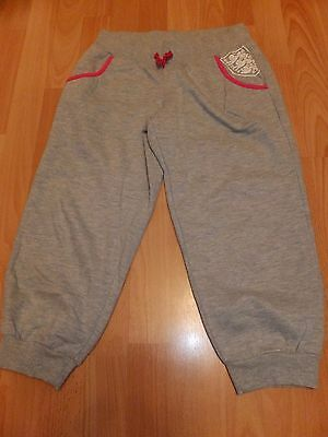 Girls Grey Marks And Spencers Cropped England Pants Age 13-14 Years