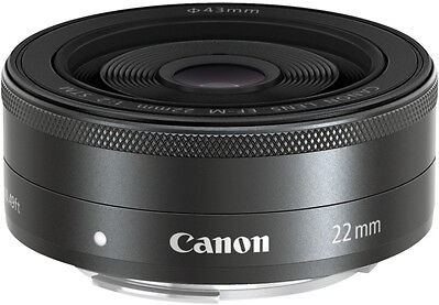 Canon EF-M 22mm f/2 STM Lens - Brand new - Fast free shipping From Canada