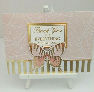 Handmade Thank you Card: Butterfly (Thank you)