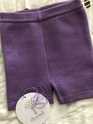 SLOOMB sustainable Babyish Baseshorties Wool 6-18 Mos Aster Lavender With String