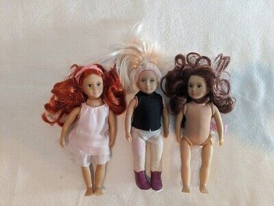 Lot (3) Our Generation, Lori Doll Collection, Miniature, Small, EUC!!