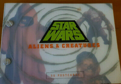 Star Wars Aliens and Creatures postcards book