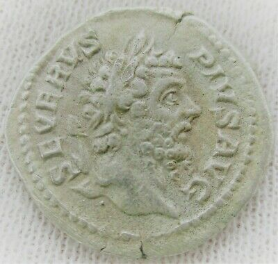 Unresearched Ancient Roman Ar Silver Denarius Coin