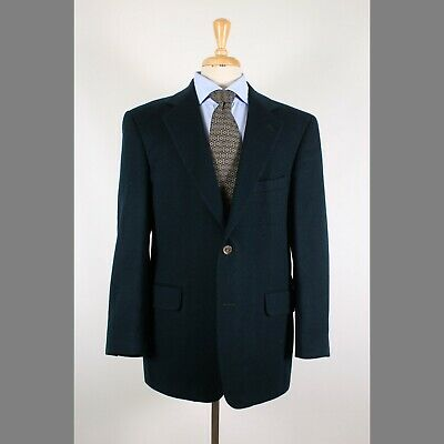 Nordstrom 42R Green Solid Camelhair Two Button Mens Sport Coat Blazer Jacket