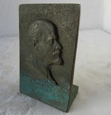 Lenin Propaganda Lenin Soviet Union Embossed desk Plaque Communist USSR, heavy