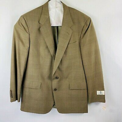 Austin Reed Two Button Poly/Wool Sports Coat Men's Size 44 Long NWT Olive