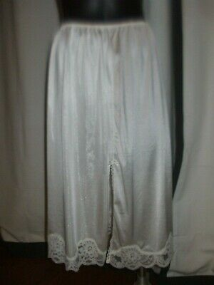 Slip half size 16 by Maggie T in white with lace split