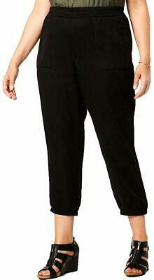 Style & Co. Women's Pants Black Size 22W Plus Joggers Relaxed-Fit $59 450