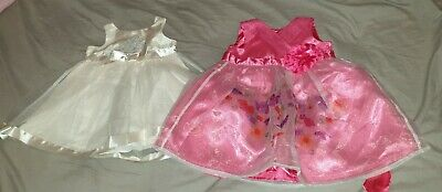 2xGorgeous baby girls size 00 satin summer party dresses