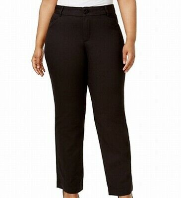Lee Womens Pants Black Size 18W Plus Madelyn Eased Fit Trouser Stretch $60 300