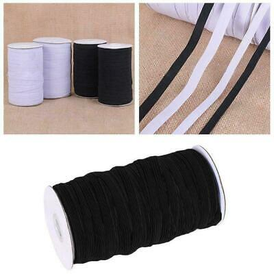 Flat Elastic Braided Cord Black White Tailoring Sewing 0.3-0.8cm Dress Y5G4