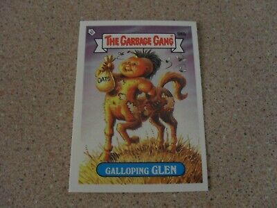 The GARBAGE Gang series 3 (AUS) 86b GALLOPING GLEN checklist back