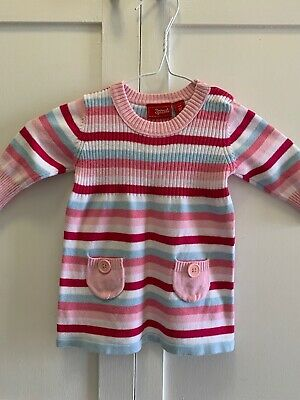 Sprout Girls Toddler Striped Long Sleeve Dress| Size 00