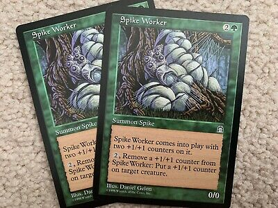 MTG SPIKE WORKER Stronghold COMMON; played Excellent condition x4