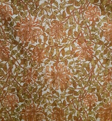 "Vintage Sanderson Cotton fabric - ""Honeysuckle Minor"" by William Morris"