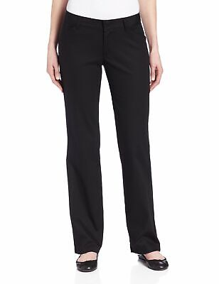 Dickies Womens Pants Black Size 16 Relaxed-Fit Straight-Leg Stretch $48- 190