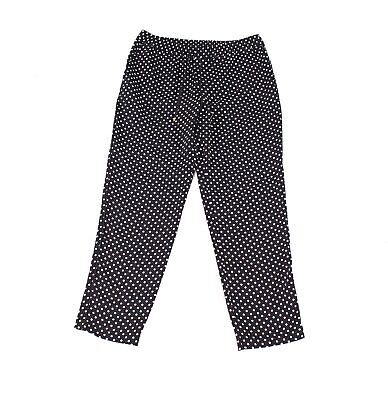 Lauren by Ralph Lauren Womens Pants Black Size 10 Polka-Dot Stretch $115 474