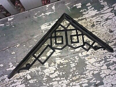 "Vintage cast iron art deco shelf bracket   8"" x 11"""