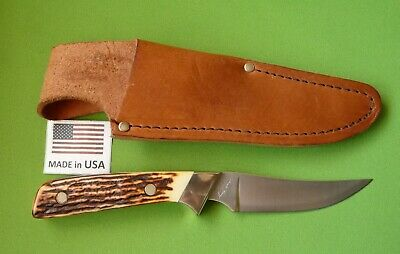 "Schrade USA made 162UH Uncle Henry ""Wolverine"" Skinning Knife with Sheath."