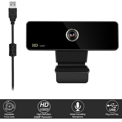 UK Rotatable 2.0 HD 1080P Computers Webcam Video Camera Built-in Microphone