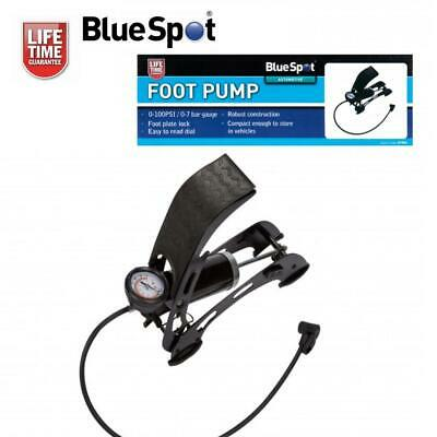 Clearance Lot07954 Compact Robust Foot Air Pump For Cars Bikes Mobility Scooters