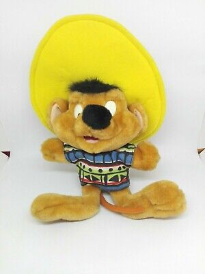 Vintage Speedy Gonzales Plush Toy Looney Tunes Play by Play - 35 cm