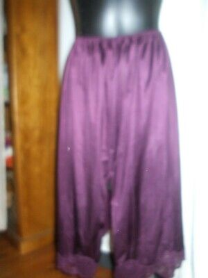 Slip half size 22 by Maggie T in burgundy with lace split