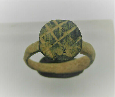 Detector Finds Ancient Roman Bronze Ring With Decorated Bezel