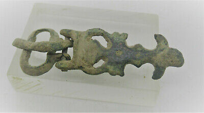 Detector Finds Ancient Viking Bronze Buckle Serpent Head Form