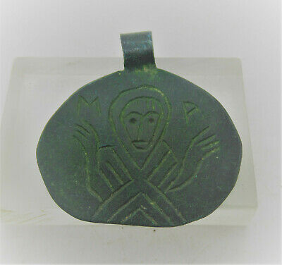 Ancient Byzantine Bronze Pendant With Saint Depiction Detector Finds