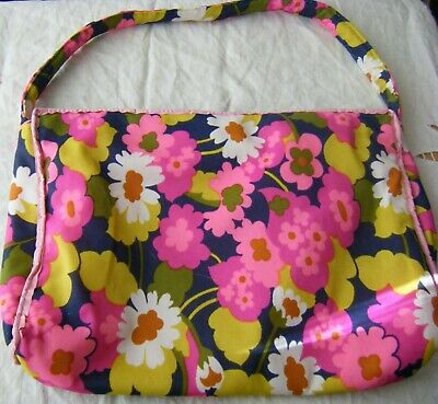 Vintage Retro Large Make up Toiletry Wash Bag, 1960's / 1970's, Bright Floral