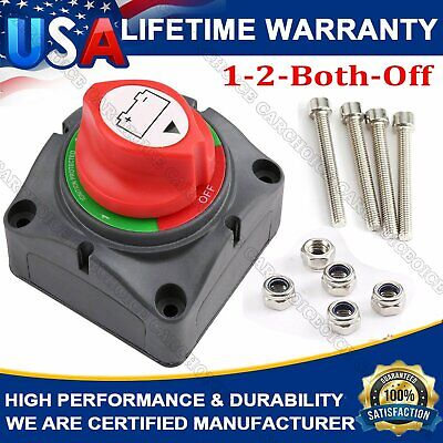 Cllena Dual Battery Switches for Car Marine Boat Rv Vehicles