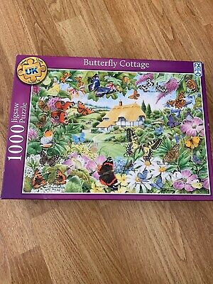 'Butterfly Cottage' 1000 piece Jigsaw Puzzle. FX SCHMID. Complete.