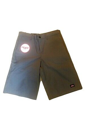"""Dickies 34"""" x 13"""" Mens Work Shorts Gray Flex Relaxed Fit Multi Tech Pocket NEW"""