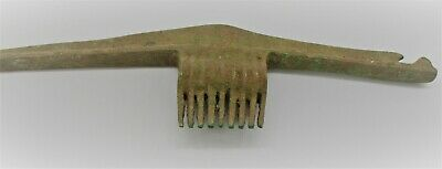 Circa 1000Bce Ancient Luristan Bronze Spiked Pick Tool Agricultural Tool